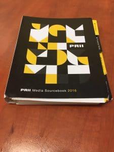 PRII Media Sourcebook 2016 vital for your PR crisis communications plan