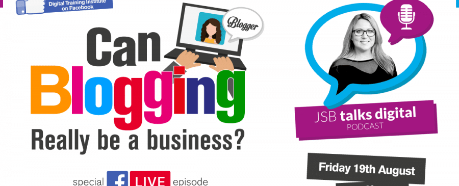 Joanne Sweeney-Burke business blogging livecast on Facebook