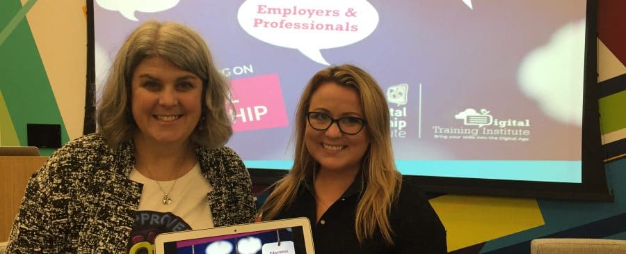 Marialice Curran, CEO of the Digital Citizenship Institute and Joanne Sweeney Burke CEO of the Digital Training Institute announce a partnership on digcit programs for companies and workplaces