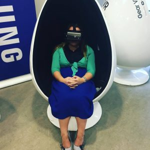 Joanne Sweene-Burke Experiences Virtual Reality in Healthcare at the Health Innovation Showcase