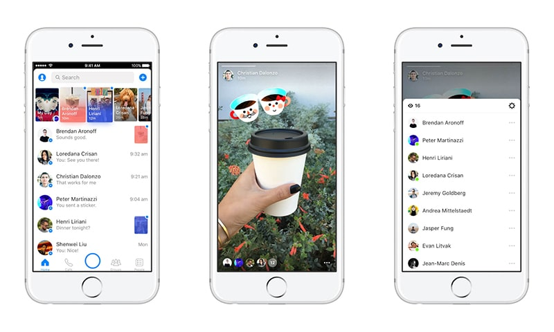 Messenger Day on iPhone - Social Media in the Personalization Age