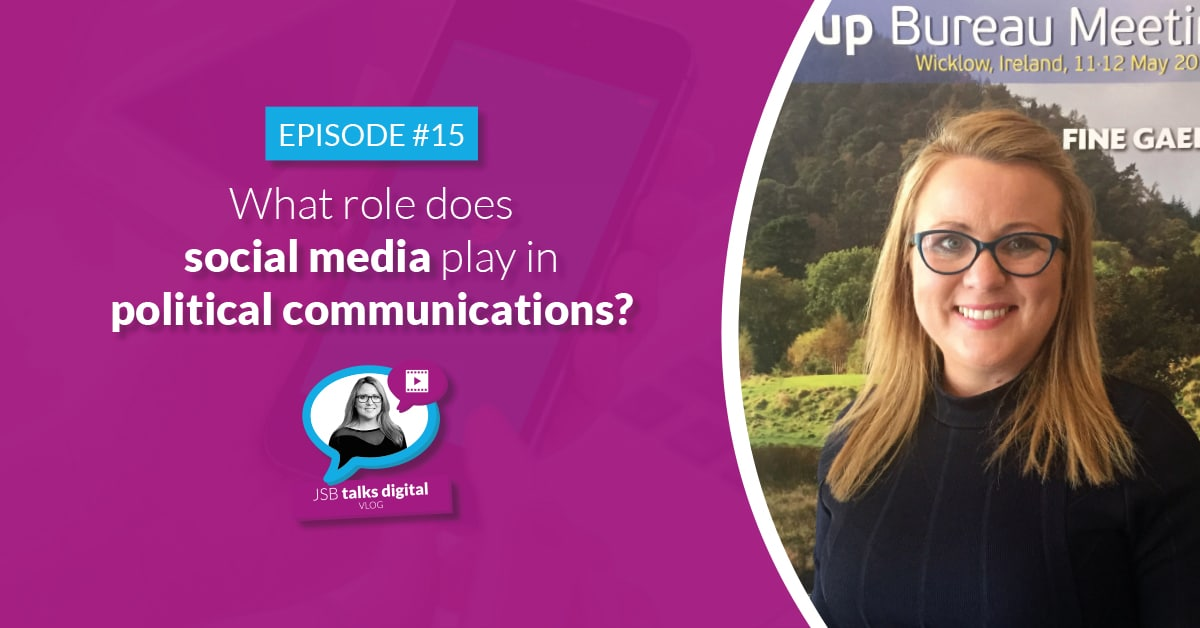 JSB Talks Digital Vlog #15 - Role of Social Media in Political Communications