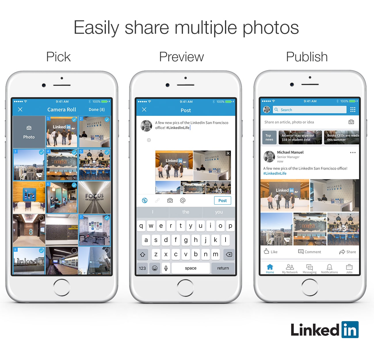 Multiple Images LinkedIn