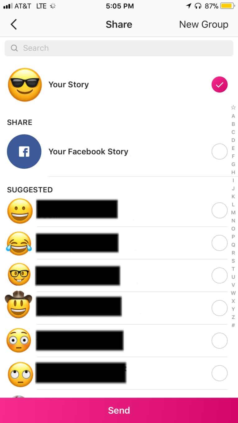 Instagram Facebook Cross-post Stories