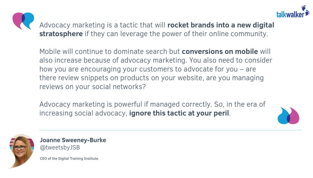 JSB Quote - Advocacy Marketing