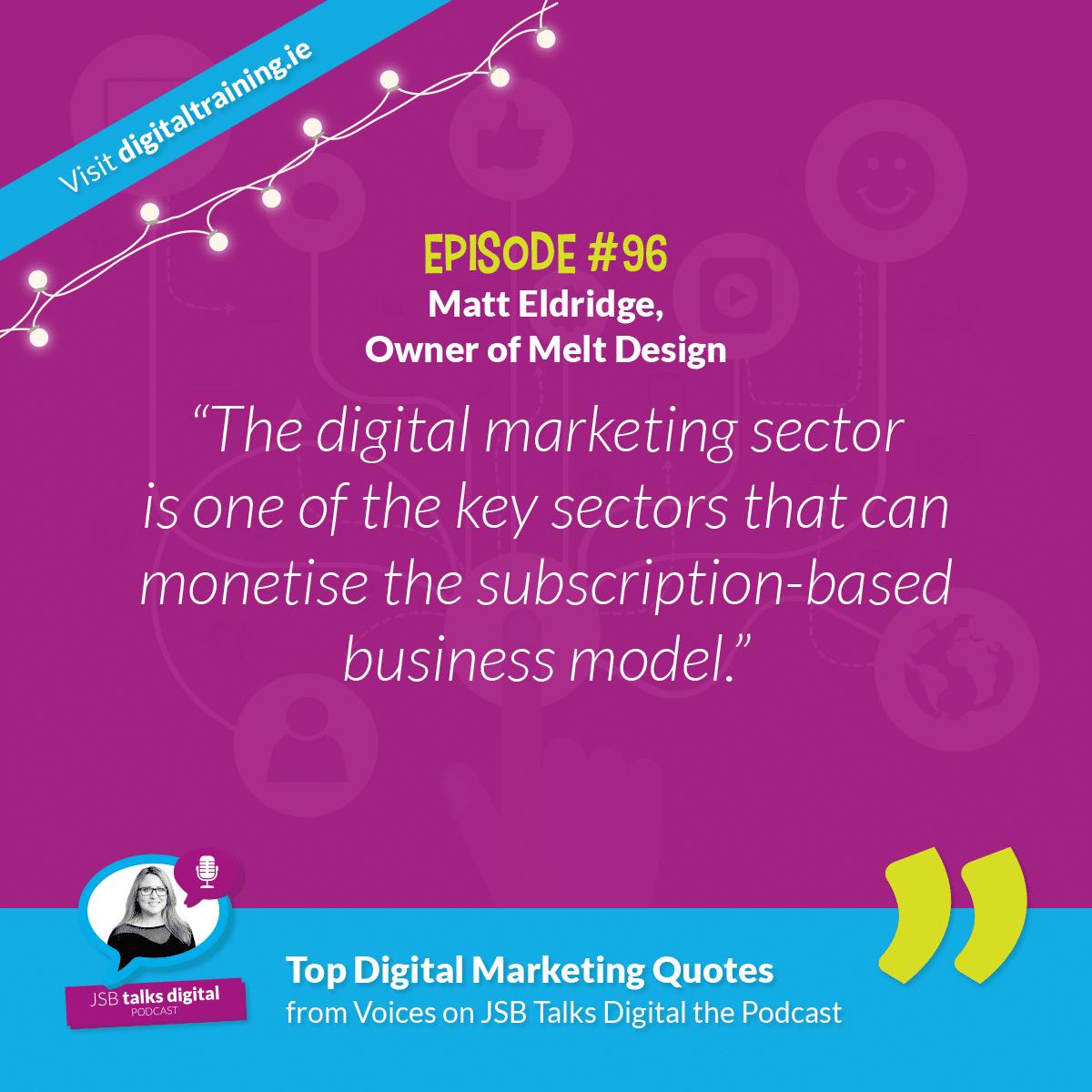 Matt Eldridge, Owner of Melt Design - Quote