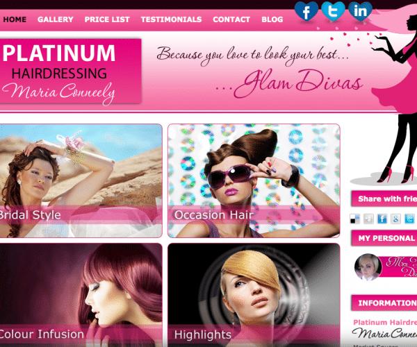 Platinum Hairdressing website