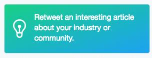 Twitter Dashboard retweet interesting articles