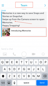 Team Snapchat Tells Me About Snapchat Memories