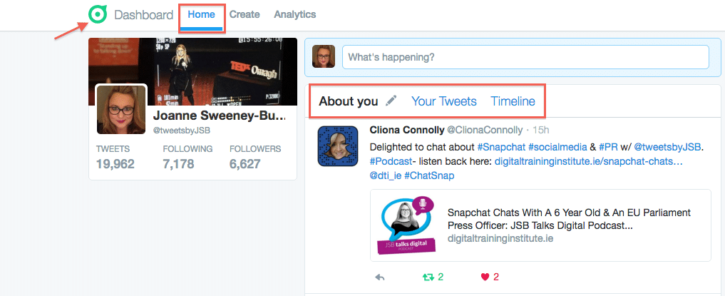 How To Use Twitter Dashboard Home Screen