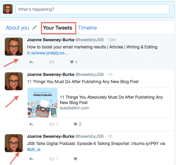 How to use Twitter Dashboard your tweets stream