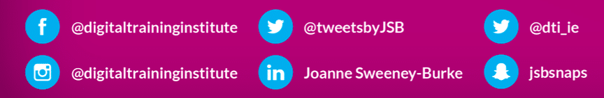 connect with Joanne Sweeney Burke on social media