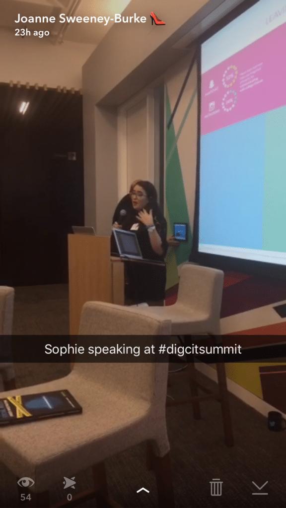 Sophie Burke speaking at Digital Citizenship Summit