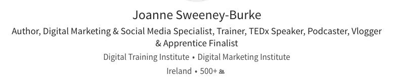 Joanne Sweeney-Burke LinkedIn