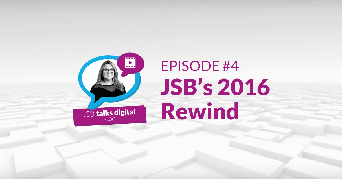 JSB Talks Digital Vlog - JSB's 2016 Rewind