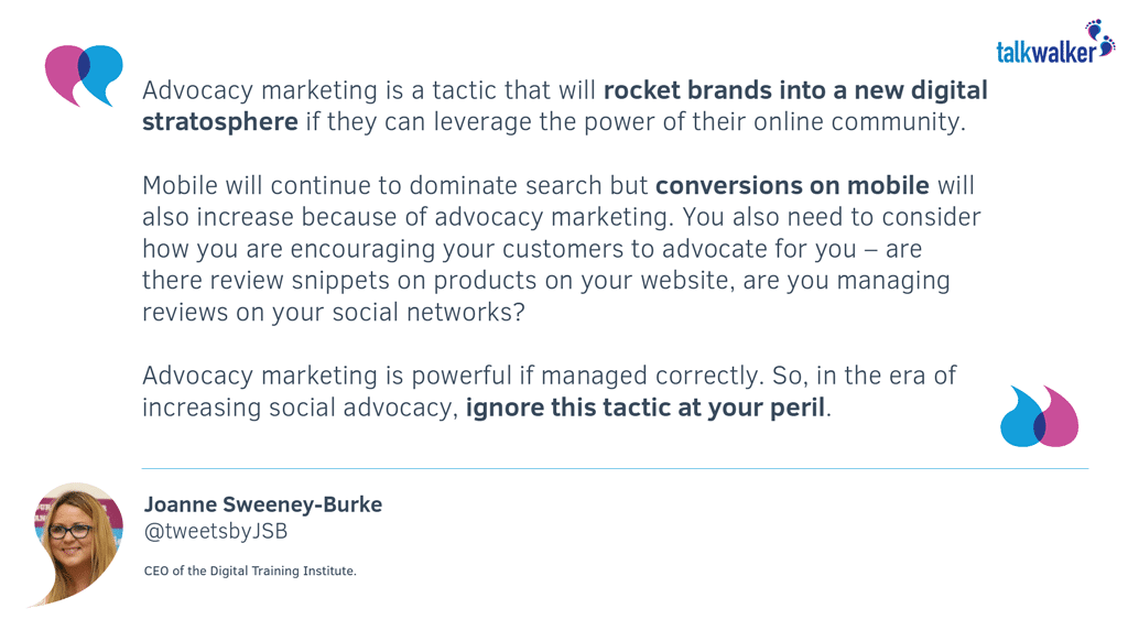 JSB Quote - Advocacy Marketing