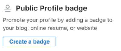 LinkedIn Public Profile Badge