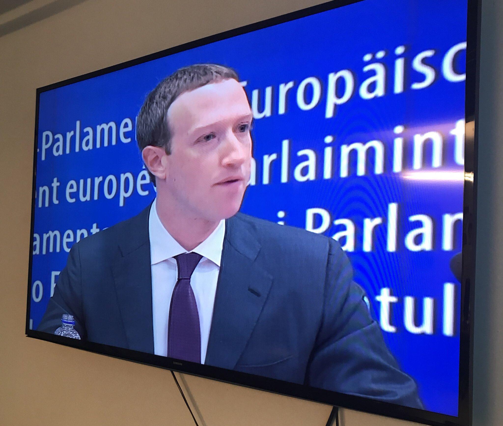 Mark Zuckerberg in Brussels