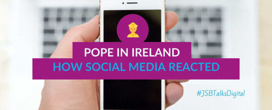 Pope in Ireland how social media reacted