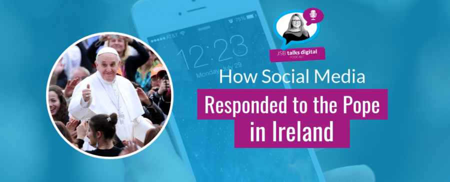social media responded to the pope in ireland