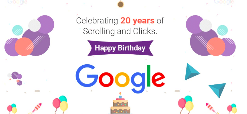 Happy Birthday Google 20 years old