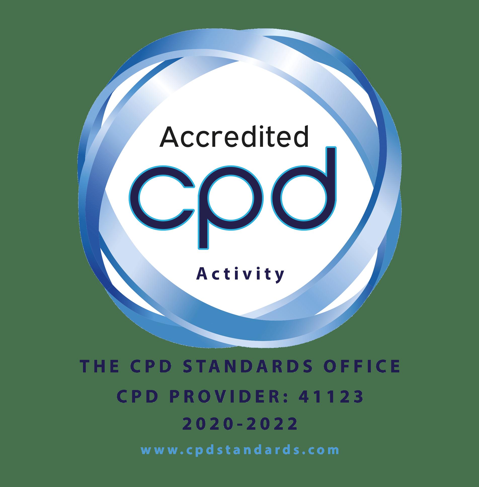 CPD Provider Logo Online Activity 2020 - 2022 - 41123